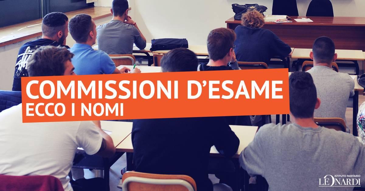 Commissioni d'Esame 2017 - Istituto Paritario Leonardi