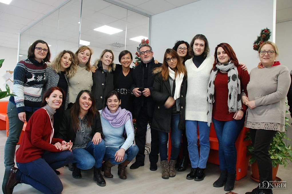Lo Staff dell'Istituto Paritario Leonardi alla festa di Natale
